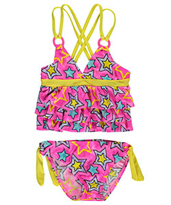 "2 B Real Little Girls' Toddler ""Starry Swim"" 2-Piece Tankini (Sizes 2T – 4T) - CookiesKids.com"