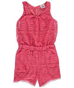 "Real Love Little Girls' Toddler ""Laceway"" Romper (Sizes 2T – 4T) - CookiesKids.com"