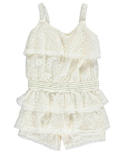 "Real Love Little Girls' ""Layer Cake"" Romper (Sizes 4 – 6X) - CookiesKids.com"