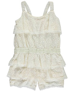 "Real Love Big Girls' ""Layer Cake"" Romper (Sizes 7 – 16) - CookiesKids.com"