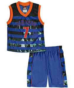 "Mad Game Little Boys' Toddler ""New York Stripes"" 2-Piece Outfit (Sizes 2T – 4T) - CookiesKids.com"