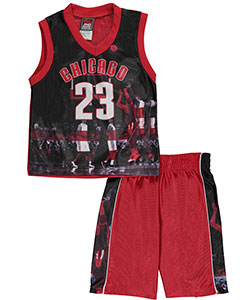 "Mad Game Little Boys' ""Chicago Stripes"" 2-Piece Outfit (Sizes 4 – 7) - CookiesKids.com"