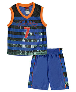 "Mad Game Big Boys' ""New York Stripes"" 2-Piece Outfit (Sizes 8 – 20) - CookiesKids.com"