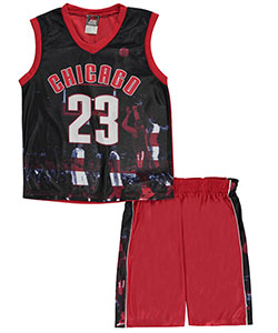 "Mad Game Big Boys' ""Chicago Stripes"" 2-Piece Outfit (Sizes 8 – 20) - CookiesKids.com"