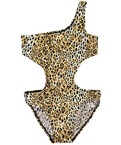 "2 B Real Little Girls' ""Ringed Leopard"" 1-Piece Swimsuit (Sizes 4 – 6X) - CookiesKids.com"