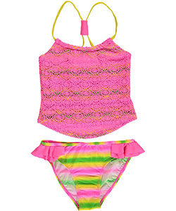 "2 B Real Big Girls' ""Eyelet Tie-Dye"" 2-Piece Tankini (Sizes 7 – 16) - CookiesKids.com"