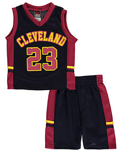 "Mad Game Little Boys' ""Cleveland B-Ball 23"" 2-Piece Outfit (Sizes 4 – 7) - CookiesKids.com"