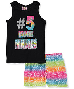 "1000% Cute Little Girls' ""5 More Minutes"" 2-Piece Pajamas (Sizes 4 – 6X) - CookiesKids.com"