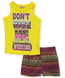 "1000% Cute Big Girls' ""Don't Wake Me till the Weekend"" 2-Piece Pajamas (Sizes 7 – 16) - CookiesKids.com"
