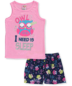 "1000% Cute Big Girls' ""Owl I Need Is Sleep"" 2-Piece Pajamas (Sizes 7 – 16) - CookiesKids.com"