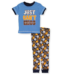 "Mac Henry Little Boys' Toddler ""Just Can't Miss"" 2-Piece Pajamas (Sizes 2T – 4T) - CookiesKids.com"