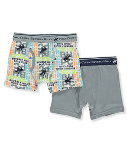 Beverly Hills Polo Club Little Boys' 2-Pack Boxer Briefs (Sizes 4 – 6) - CookiesKids.com