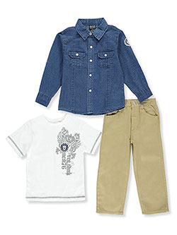 "Quad Seven Little Boys' Toddler ""Grade A"" 3-Piece Outfit (Sizes 2T – 4T) - CookiesKids.com"
