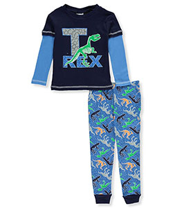 "Mon Petit Little Boys' Toddler ""T. Rex"" 2-Piece Pajamas (Sizes 2T – 4T) - CookiesKids.com"