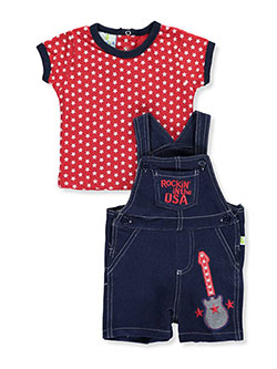"Duck Duck Goose Baby Boys' ""Rockin' in the USA"" 2-Piece Outfit - CookiesKids.com"