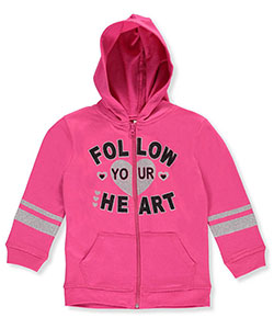 "Real Love Big Girls' ""Lead from the Heart"" Hoodie (Sizes 7 – 16) - CookiesKids.com"