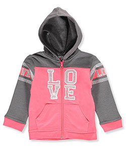 "Real Love Little Girls' Toddler ""Love Stripe"" Zip-Up Hoodie (Sizes 2T – 4T) - CookiesKids.com"