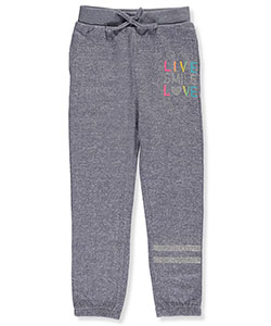 "Real Love Little Girls' Toddler ""Live & Love"" Joggers (Sizes 2T – 4T) - CookiesKids.com"