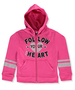 "Real Love Little Girls' ""Lead from the Heart"" Hoodie (Sizes 4 – 6X) - CookiesKids.com"