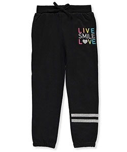 "Real Love Little Girls' ""Live & Love"" Joggers (Sizes 4 – 6X) - CookiesKids.com"