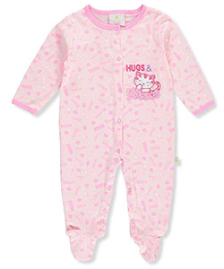 "Duck Duck Goose Baby Girls' ""Hugs & Kisses"" Footed Coverall - CookiesKids.com"