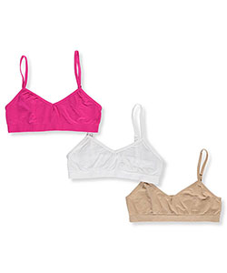 Sweet n Sassy Girls' 3-Pack Seamless Bras (Sizes 30 – 34) - CookiesKids.com