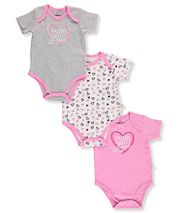 Duck Duck Goose Baby Girls' 3-Pack Bodysuits - CookiesKids.com