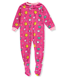 Mon Petit Little Girls' Toddler 1-Piece Footed Pajamas (Sizes 2T – 4T) - CookiesKids.com