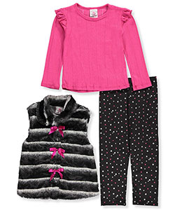 Real Love Little Girls' 3-Piece Outfit (Sizes 4 – 6X) - CookiesKids.com