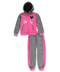 Real Love Big Girls' 2-Piece Fleece Sweatsuit (Sizes 7 – 16) - CookiesKids.com