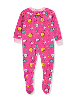 Mon Petit Baby Girls' 1-Piece Footed Pajamas - CookiesKids.com