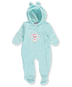Mon Petit Baby Girls' Plush Fleece Footed Coverall - CookiesKids.com