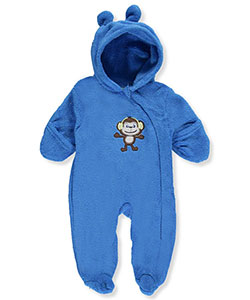 Mon Petit Baby Boys' Plush Fleece Footed Coverall - CookiesKids.com