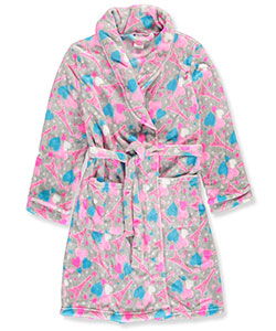 Sweet n Sassy Little Girls' Plush Robe (Sizes 4 – 8) - CookiesKids.com
