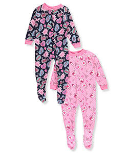 Mon Petit Baby Girls' 2-Pack Footed Pajamas - CookiesKids.com