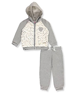 Real Love Baby Girls' 2-Piece Fleece Sweatsuit - CookiesKids.com