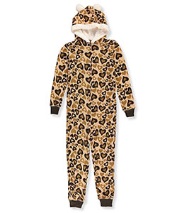 Delia's Big Girls' 1-Piece Hooded Pajamas (Sizes 7 – 16) - CookiesKids.com