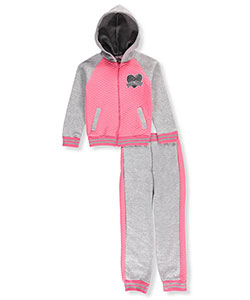 Real Love Big Girls' 2-Piece Sweatsuit (Sizes 7 – 16) - CookiesKids.com
