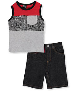 Quad Seven Little Boys' 2-Piece Outfit (Sizes 4 – 7) - CookiesKids.com