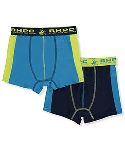 Beverly Hills Polo Club Little Boys' 2-Pack Performance Boxer Briefs (Sizes 4 – 7) - CookiesKids.com