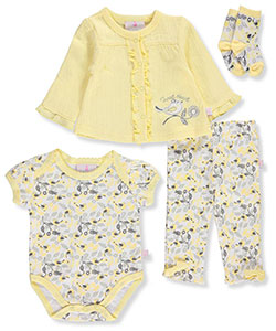 Duck Duck Goose Baby Girls' 4-Piece Layette Set - CookiesKids.com