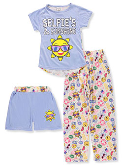 Sweet n Sassy Girls' 3-Piece Pajama Set - CookiesKids.com
