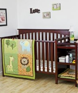 "Dream On Me ""Adventurous Animals"" 3-Piece Crib Set - CookiesKids.com"