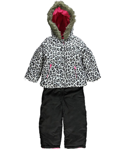 "Carter's Little Girls' Toddler ""Snow Pounce"" 2-Piece Snowsuit (Sizes 2T – 4T) - CookiesKids.com"