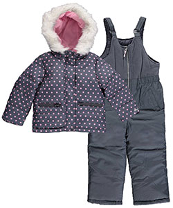 "OshKosh Little Girls' Toddler ""Spotty Snow"" 2-Piece Snowsuit (Sizes 2T – 4T) - CookiesKids.com"