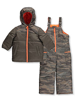 "Carter's Little Boys' ""Ski Patrol Rescue"" 2-Piece Snowsuit (Sizes 4 – 7) - CookiesKids.com"