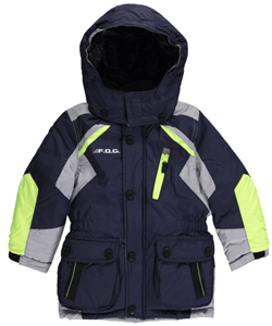 "London Fog Little Boys' ""Snow Zone"" Jacket (Sizes 4 – 7) - CookiesKids.com"