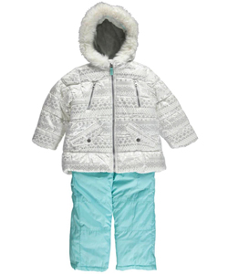 "Carter's Little Girls' Toddler ""Fair Isle Shine"" 2-Piece Insulated Snowsuit (Sizes 2T – 4T) - CookiesKids.com"