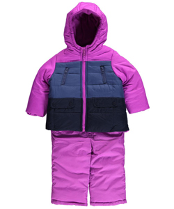 "OshKosh Baby Girls' ""Ice Bands"" 2-Piece Insulated Snowsuit - CookiesKids.com"
