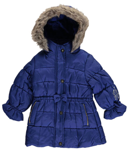 "London Fog Baby Girls' ""Magic Buttons"" Insulated Jacket - CookiesKids.com"